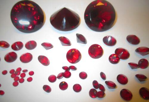 synthetisches Kristallglas #25 Rot 30 mm Ø Facettenschliff 1 Glasdiamanten