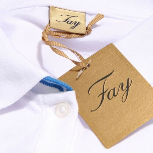 Fay shirt White T Woman blue Polo Donna 8852y Maglia Cotton xqgCaCw