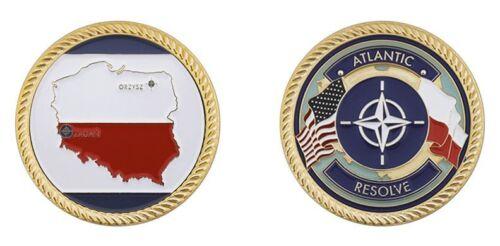 "ARMY ATLANTIC RESOLVE POLAND 1.75/"" CHALLENGE COIN"