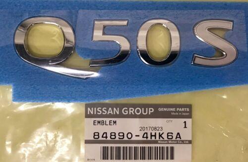 84890-4HK6A New OEM Infiniti Q50 Silver Sport Trunk Emblem