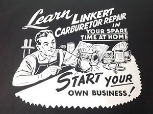LINKERT CARBURETOR T SHIRT INDIAN KNUCKLEHEAD FLATHEAD PANHEAD L XL XXL
