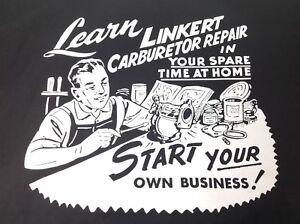 LINKERT CARBURETOR T SHIRT INDIAN KNUCKLEHEAD FLATHEAD PANHEAD L XL XXL