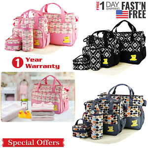 5-Pcs-Baby-Changing-Diaper-Nappy-Bag-Mummy-Mother-Handbag-Multi-functional-Set