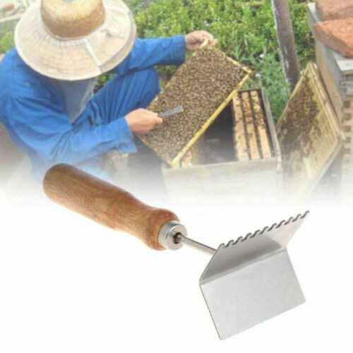 1x Queen Bee Excluder Nest Frame Cleaning Shovel Cleaner Beekeeping Wooden Tool