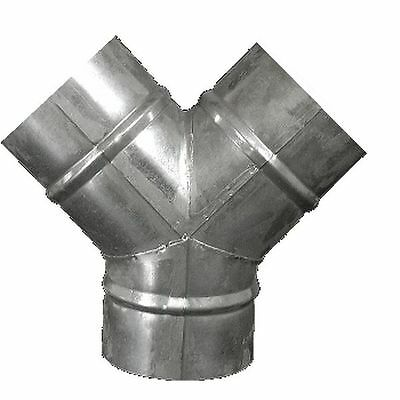 Equal Metal Y Piece/Section Ventilation Ducting Connector/Splitter 4/5/6/8/10/12