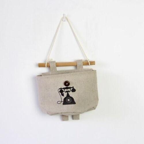 1pc Makeup Organizer Cotton Pocket Wall Fabric Hanging Holder Storage Bags Rack