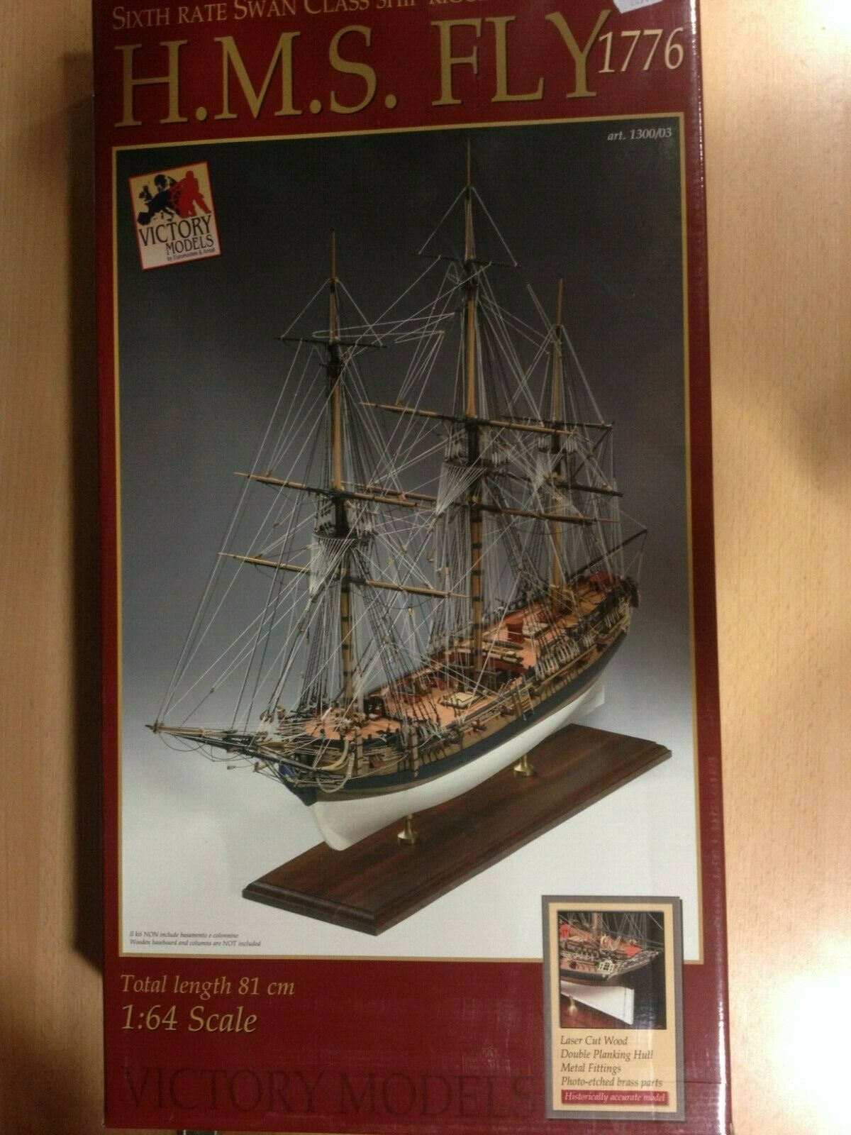 VICTORY MODELS kiT H.M.S. Fly 1776,Ref.1300 03,escala.1 64
