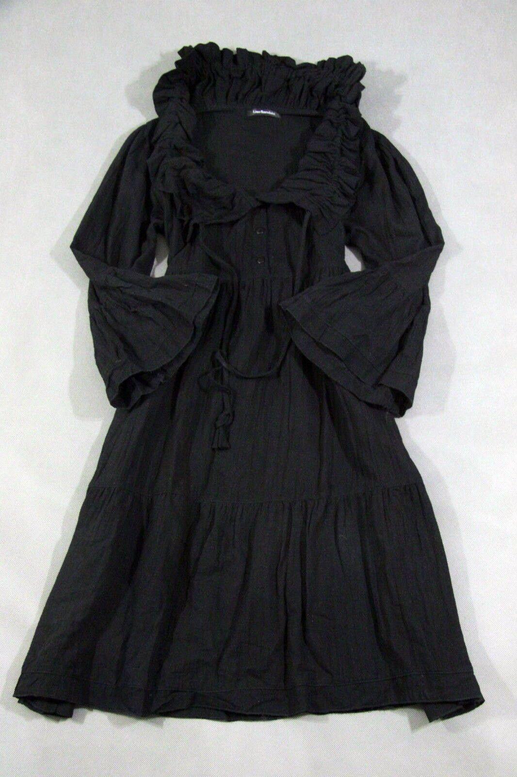 LISE SANDAHL Kleid Gothik 100% 100% 100% Cotton gecrasht,  Schwarz OverGröße Gr. S M   S4 | Viele Sorten  | Adoptieren  | Ausgezeichnete Leistung  e10a71