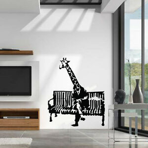 Image is loading Banksy-Wall-Decal-sticker-vinyl-street-art-graffiti- & Banksy Wall Decal sticker vinyl street art graffiti bedroom kitchen ...
