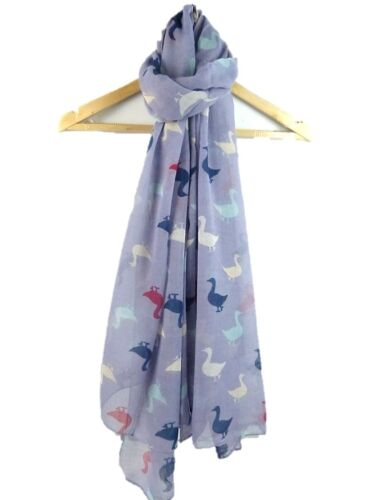 Duck Mallard  Print  Scarf// Large Wrap Scarf in Choice of 4 Colours