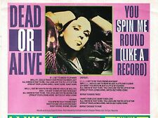 DEAD OR ALIVE (Pete Burns) Spin Me lyrics  magazine PHOTO/ clipping 8x6 inches