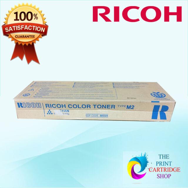 New & Original Ricoh 885324 Type M2 Cyan Toner Aficio 1224 1224C 1232 1232C
