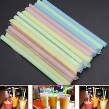 33X Bubble Boba Tea Fat Dringking Straws Party Smoothies Jumbo Thick Drink Straw