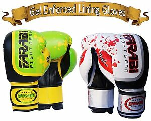 63a5dff99 Farabi Gel Series Boxing Gloves Sparring MMA Muay Thai Punching ...