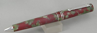 Delta Matte Journal Matte Red Marble & Rhodium Ballpoint Pen - New In Box |  eBay
