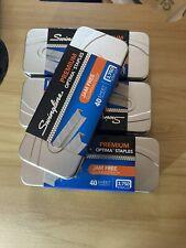 Swingline Premium Optima Staples Lot Of 4 15000 Staples 3750 Each Box