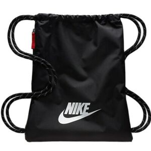 Puerto mejilla Selección conjunta  Gym Bag Nike Heritage Gymsack BA5901010 Sack Black Beutel Bolsa | eBay