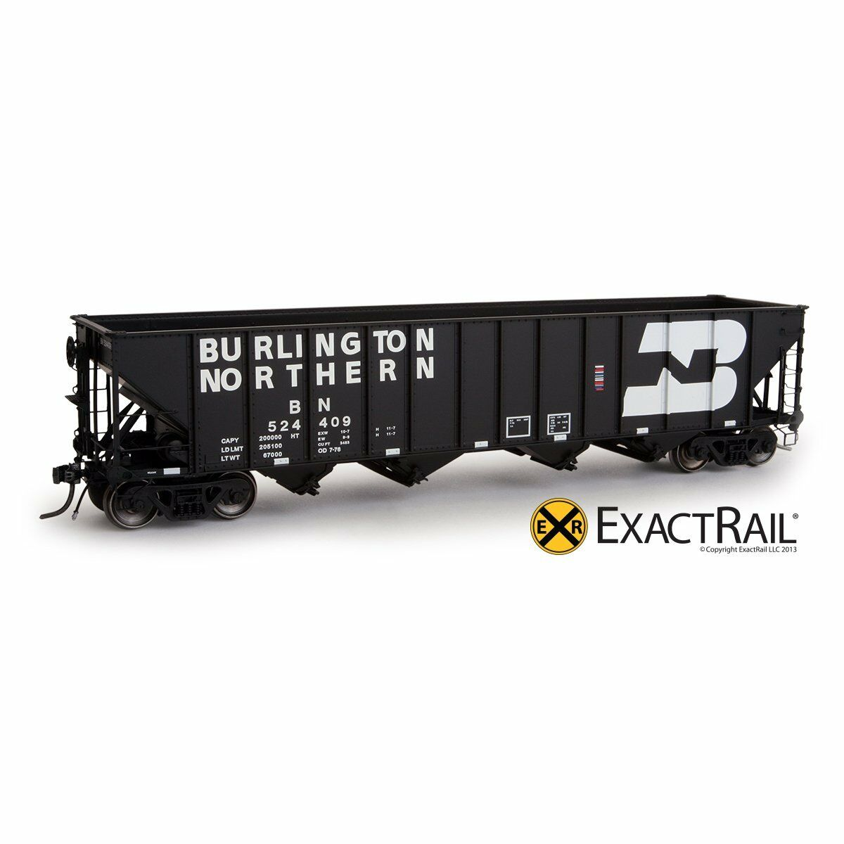 Exact Rail Platinum HO Burlington Northern 3483 Hopper 524594 NEW EP-81457-23