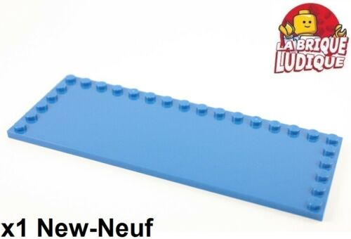 Lego 1x Tile plaque lisse modified 6x16 studs on edge bleu/blue 6205 60052 NEUF