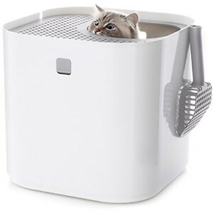 Modkat Litter Box Top-entry Looks Great Reduces Litter Tracking Includes Scoop
