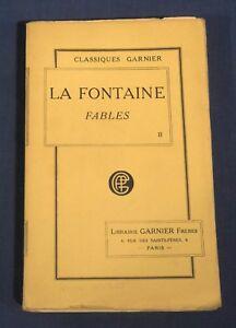 La-Fontaine-Fables-Tome-II-Classique-Garnier-Editions-Nouvelle-1923-SC-in-French