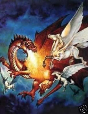 DRAGON VS PEGASUS CROSS STITCH CHART BN!