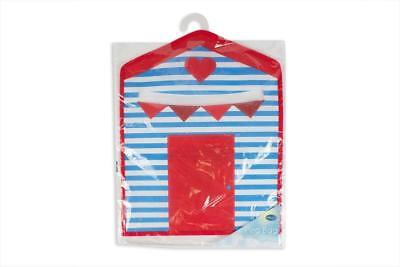 Clothes Washing Laundry Peg Bag Holder With Hanger 34X28CM Beach Hut Design