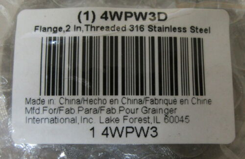 Details about  /Grainger 4WPW3D Flange