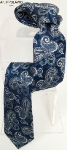 Cravatta fantasia paisley blu bordò avio verde personalizzabile made in Italy