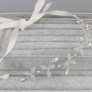 New-Bridal-Crystal-Rhinestone-Wedding-Hair-Band-Headband-Tiara-with-Iron-Ribbon