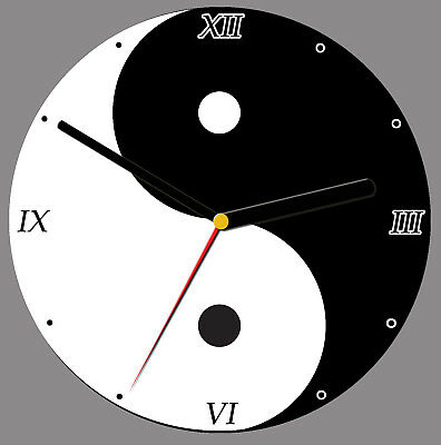 free stand can be personalised Yin and Yang CD Clock