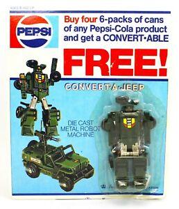 1985 PEPSI Convert-able Transformer PROMO Toy CONVERT-A-JEEP *NIP*