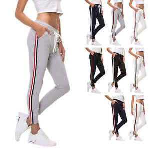 Hachiro-Damen-Jogginghose-Freizeithose-Joggers-Karottenhose-Stretch-Stoffhose