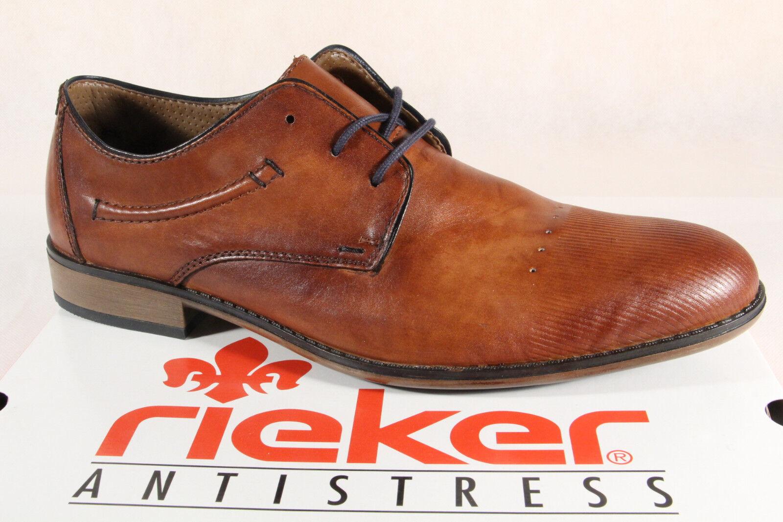 Rieker zapato bajo mocasines schnürschuhe marrón, cuero 11829 nuevo!!!