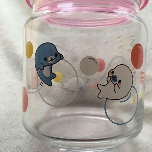 Rilakkuma Handle Jar with Lid Container Prize San-x Kawaii New Japan
