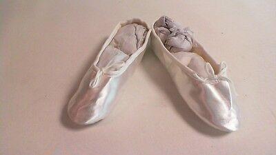 Katz Dancewear Blanco Satinado Suela De Goma Zapato De Ballet/Dama de honor-Niños UK 7 #10D627
