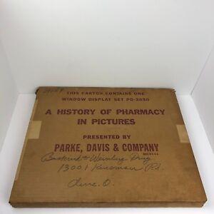 Image Is Loading Vintage Parke Davis Window Display Set A History