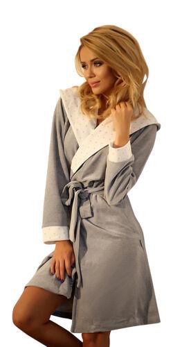 LUSSO Caldo Con Cappuccio Accappatoio Vestaglia Cotone Morbido Accappatoio Accappatoio per le donne