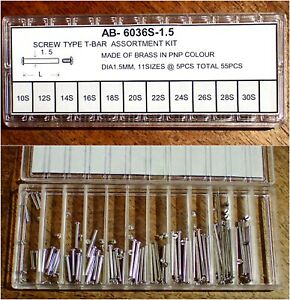 2-Pairs-4-Pieces-1-50mm-Steel-Threaded-Bars-amp-Screws-Watch-Strap-Lugs-10-30mm
