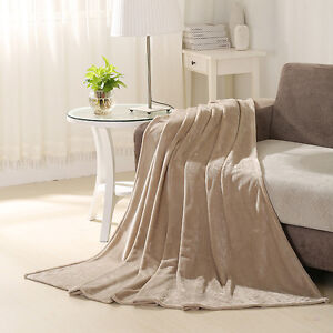 6 new large fleece throws blankets king bed spread warm comfort 108x90 soft