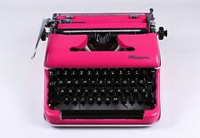 MIAMI PINK OLYMPIA SM3  - Vintage portable working typewriter