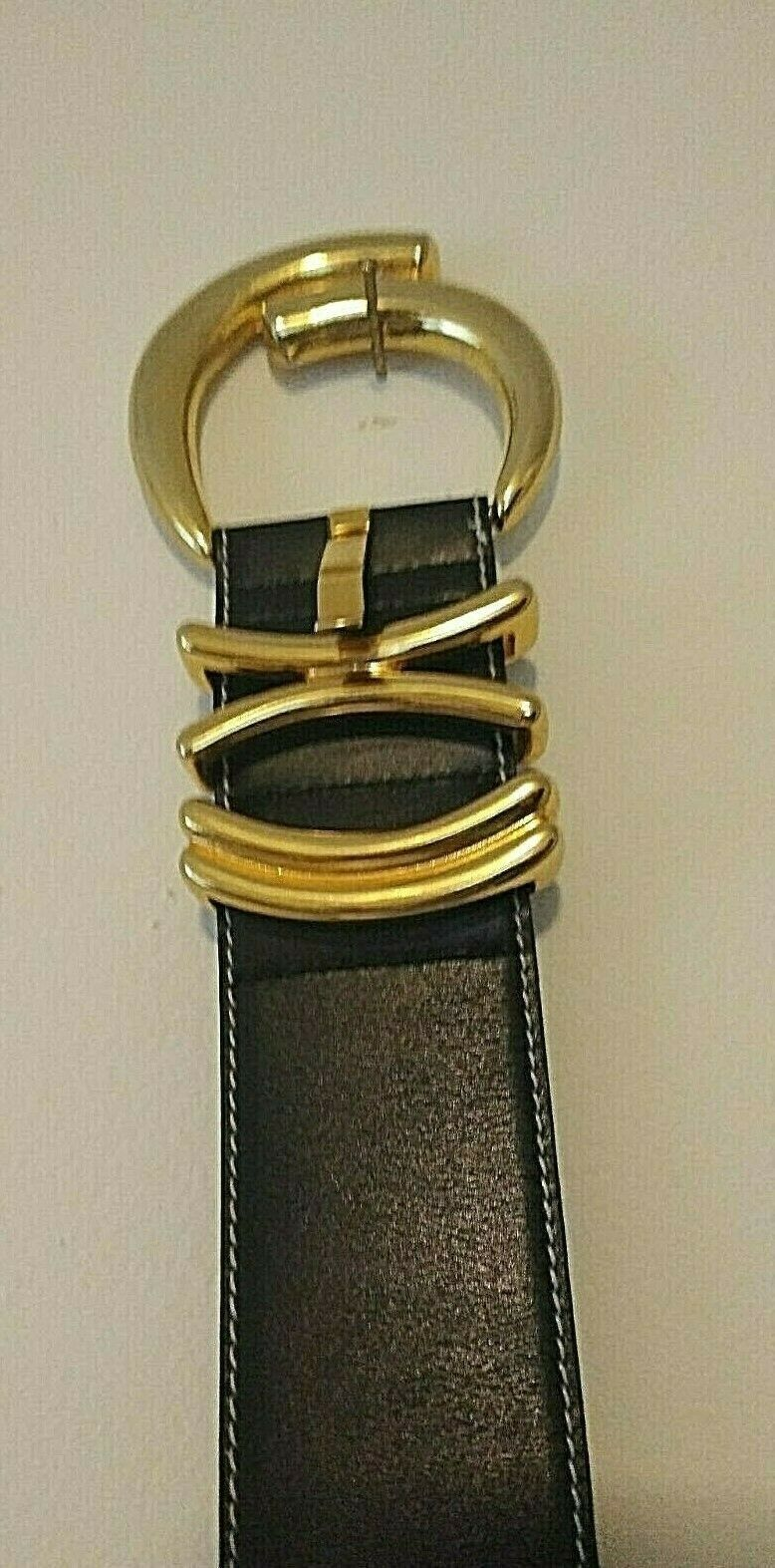 VINTAGE INCREDIBLE ESCADA 1980s BLACK LEATHER GOL… - image 10