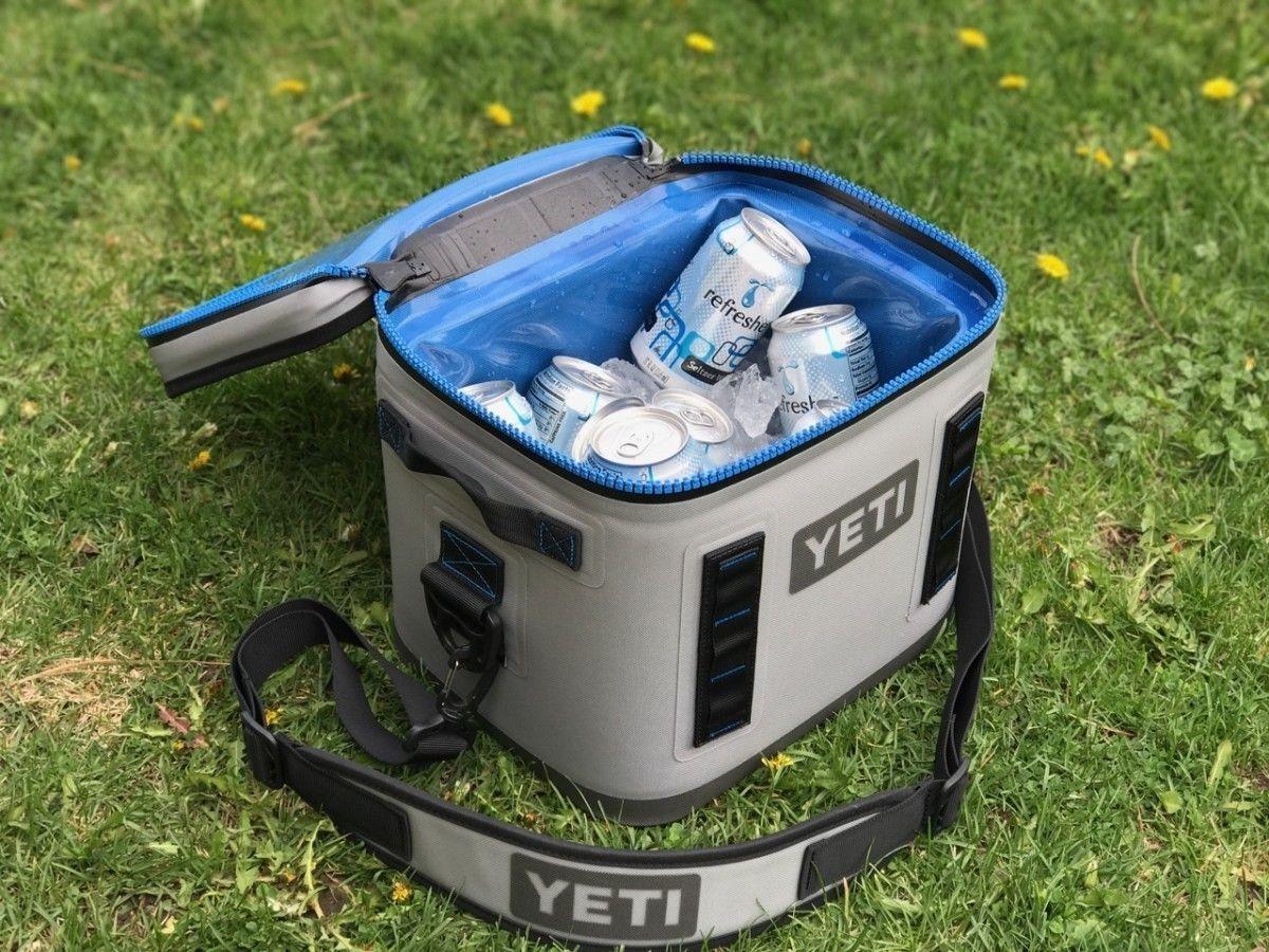 YETI Hopper Flip 8 Cooler Leakproof Fog grau/Tahoe Blau BRAND NEW //// FREE SHIP