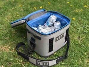 YETI-Hopper-Flip-8-Cooler-Leakproof-Fog-Gray-Tahoe-Blue-BRAND-NEW-FREE-SHIP