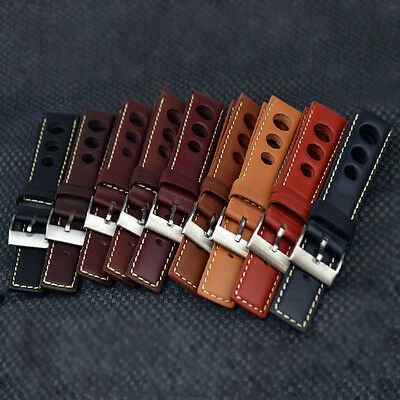 RALLYE / RALLY Racing Leather Watch Strap and Buckle in various colours & sizes