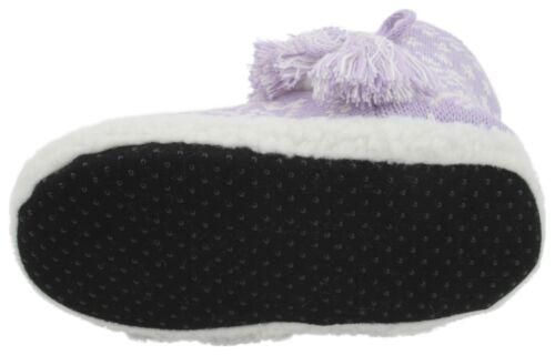 Slumberzzz Girls Knitted Aztec Fairisle Bootie Slippers