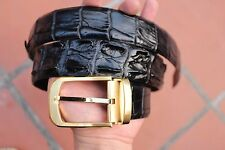 Black Genuine Alligator Crocodile Leather Skin Men's Belt S-xxl