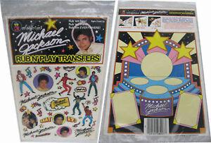 Michael-Jackson-Rub-N-Play-Transfer-Set-Colorforms-Sticker-Stickers-1984-NEW