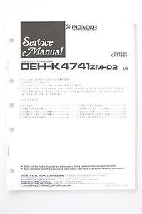 Pioneer-deh-k4741-zm-02-originale-Manuel-de-service-manuelle-AMPLIFICATEUR-O67