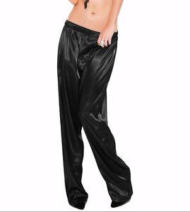 Orchid Color Satin Unisex Lounge Sleep Pajama Pants Adult Women Sissy India Maid